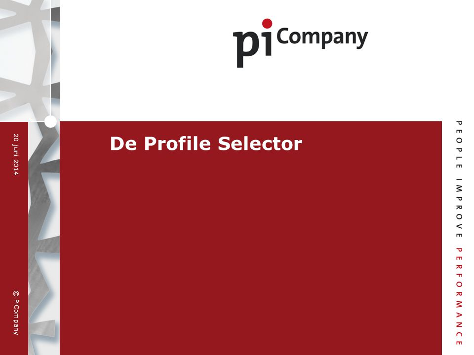 De Profile Selector 2 april 2017