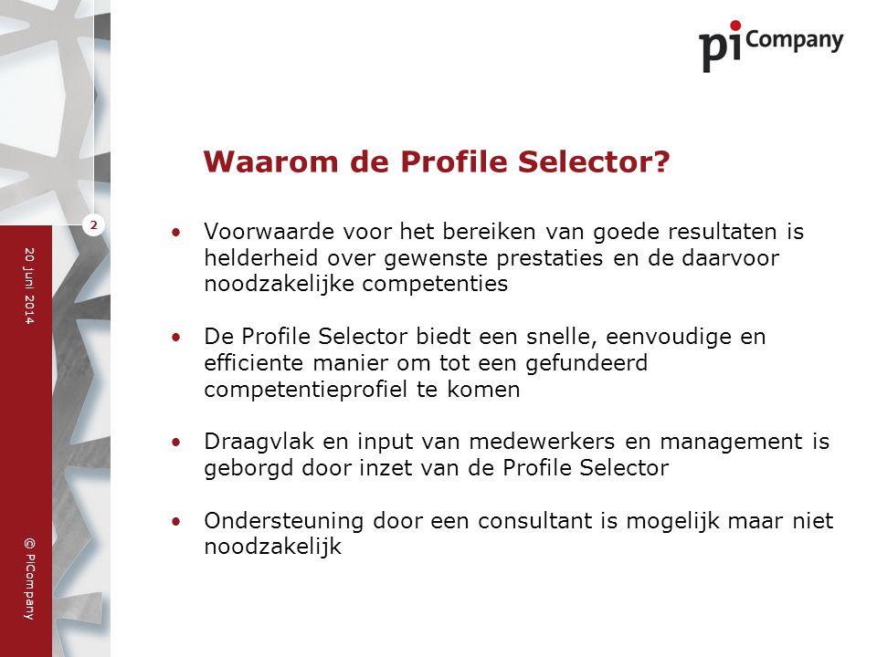 Waarom de Profile Selector
