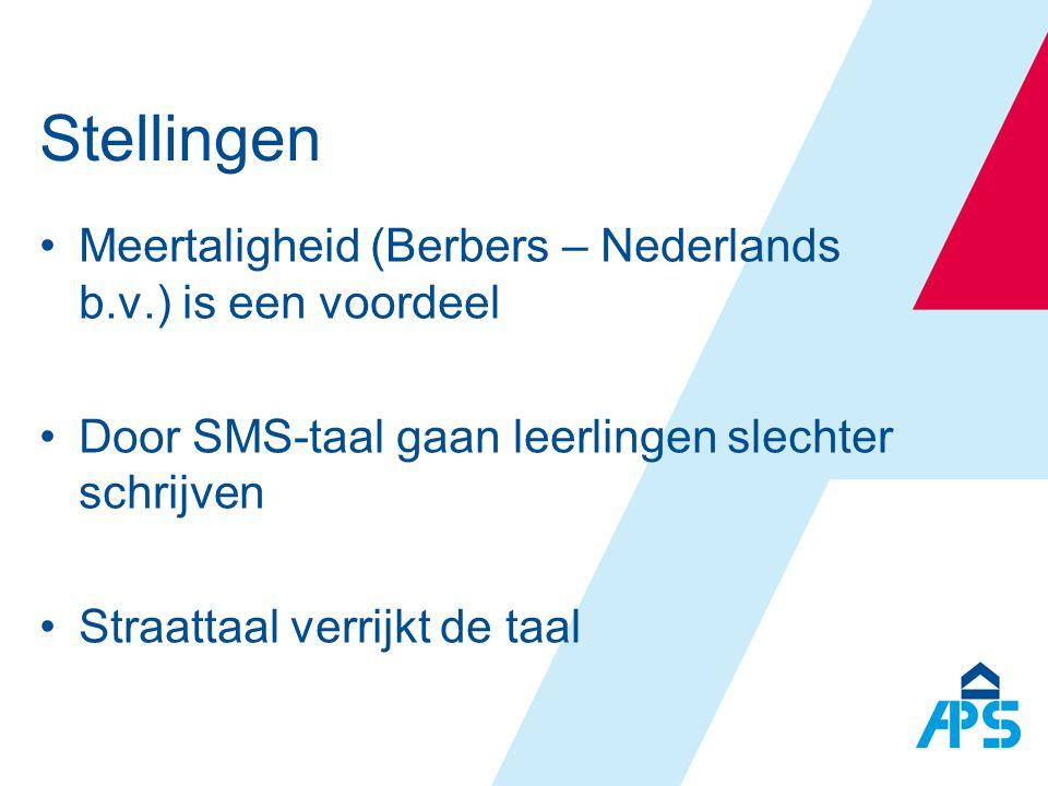 Stellingen Meertaligheid (Berbers – Nederlands b.v.) is een voordeel