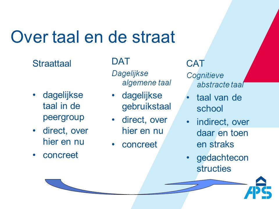 Over taal en de straat DAT dagelijkse gebruikstaal