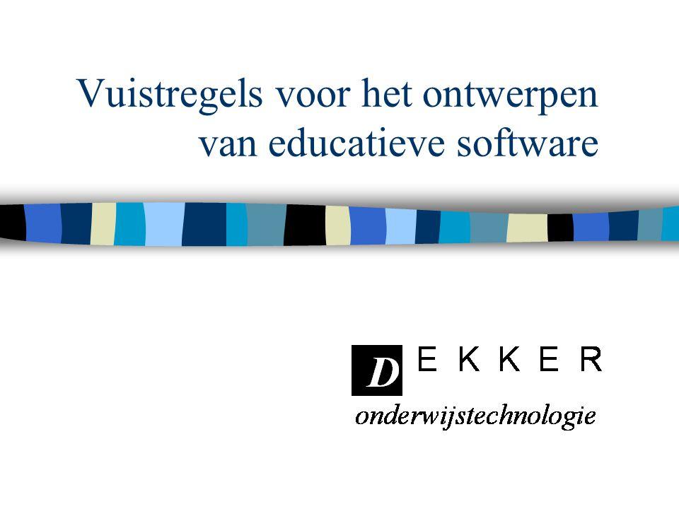 Vuistregels voor het ontwerpen van educatieve software