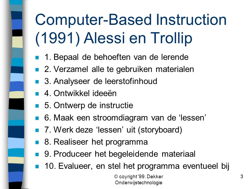 Computer-Based Instruction (1991) Alessi en Trollip