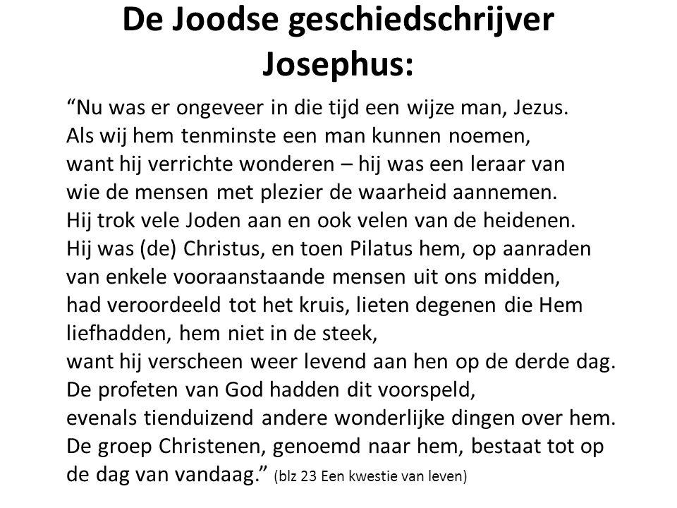 De Joodse geschiedschrijver Josephus: