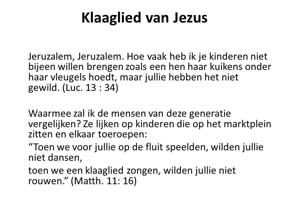 Klaaglied van Jezus
