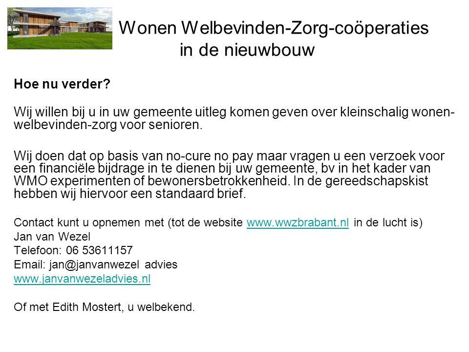 Wonen Welbevinden-Zorg-coöperaties in de nieuwbouw