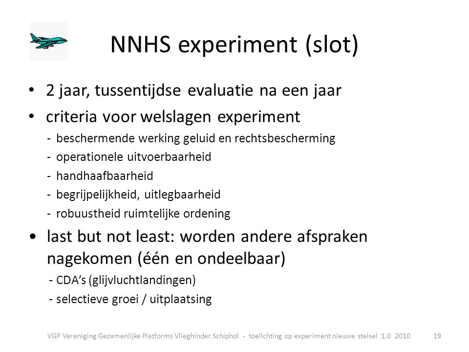 NNHS experiment (slot)