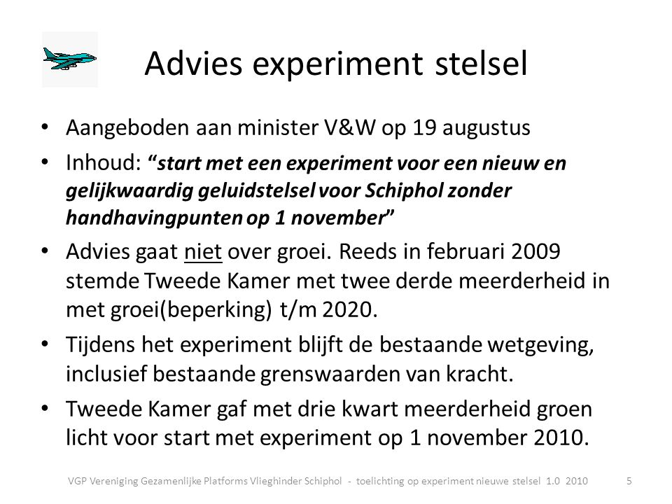 Advies experiment stelsel