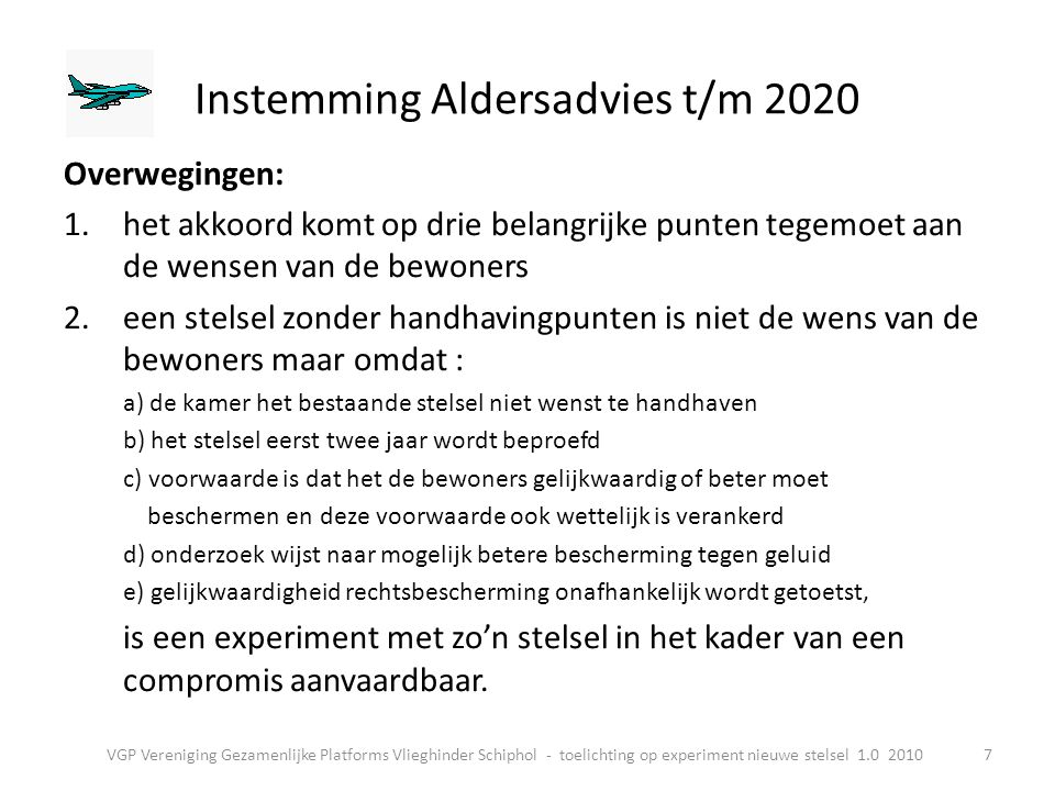 Instemming Aldersadvies t/m 2020