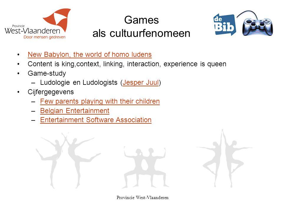 Games als cultuurfenomeen