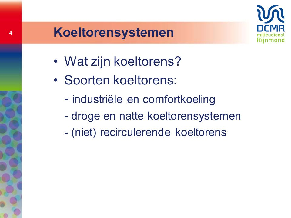 - industriële en comfortkoeling