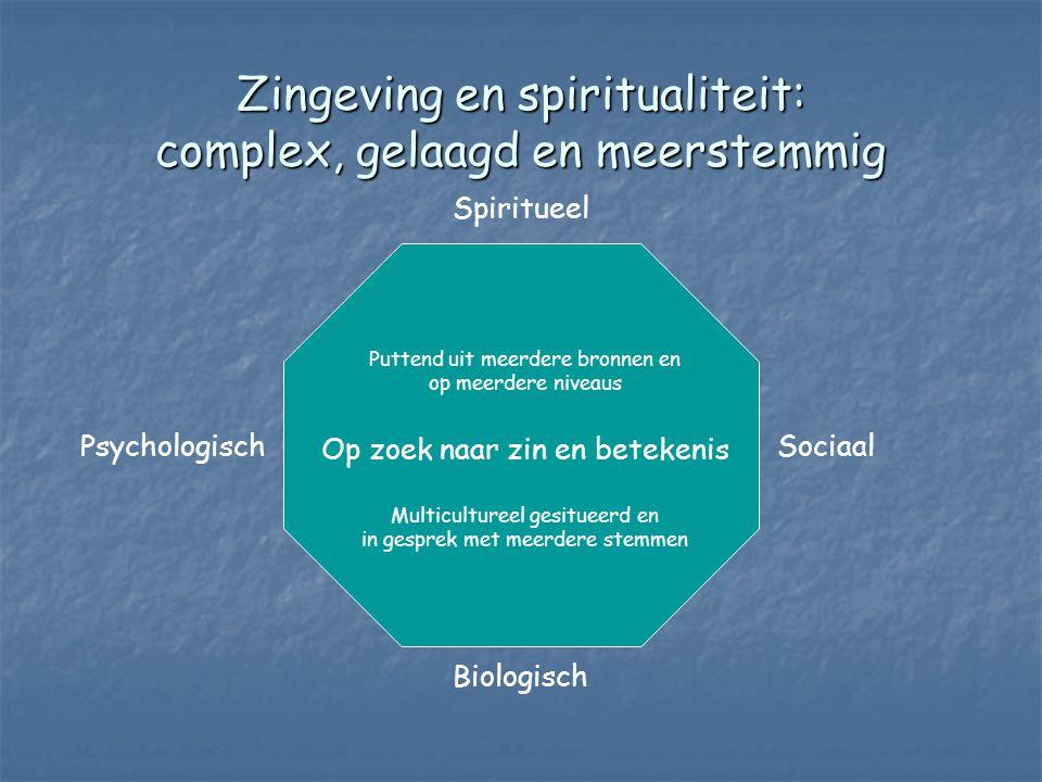 Zingeving en spiritualiteit: complex, gelaagd en meerstemmig