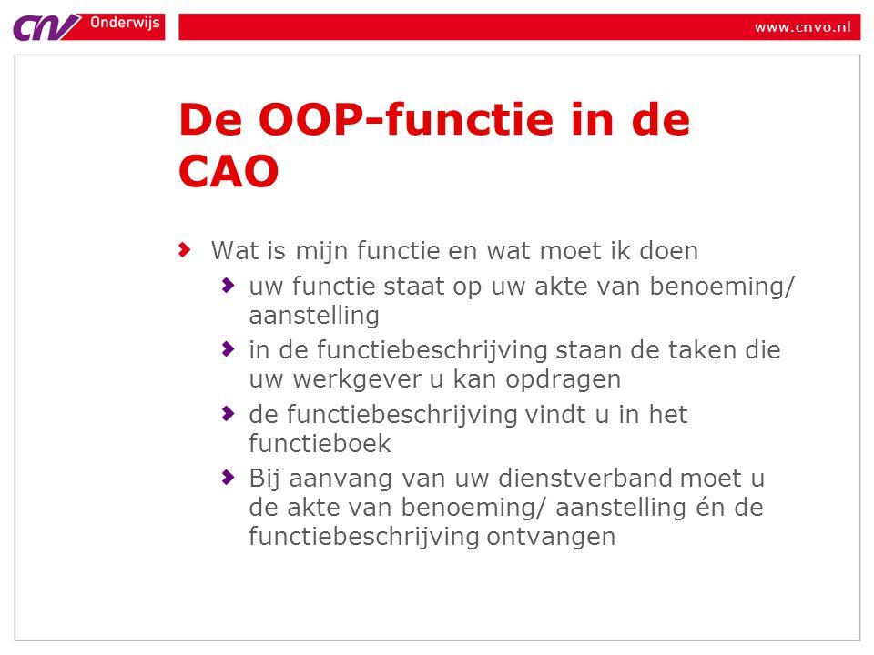De OOP-functie in de CAO