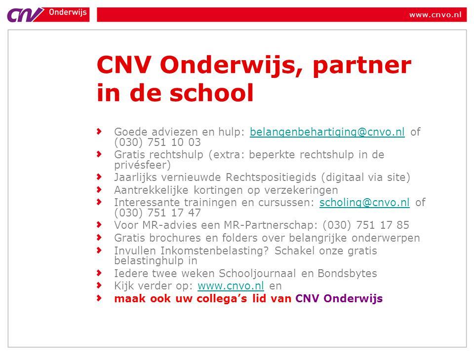 CNV Onderwijs, partner in de school