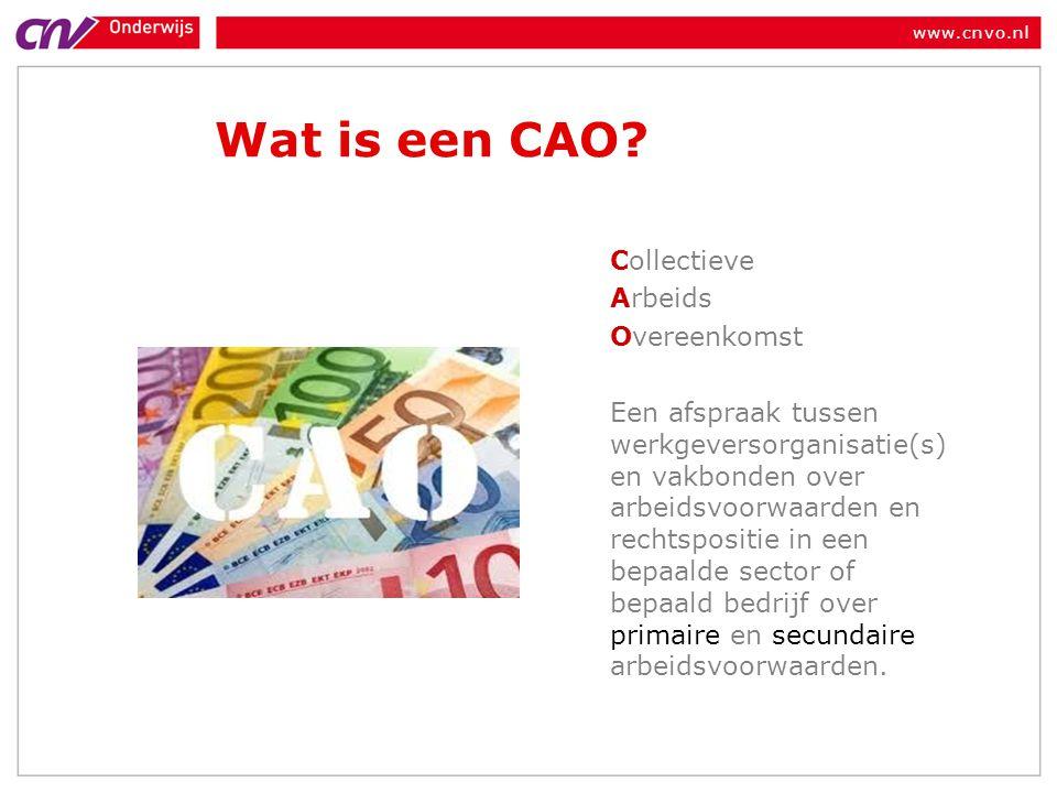 Wat is een CAO