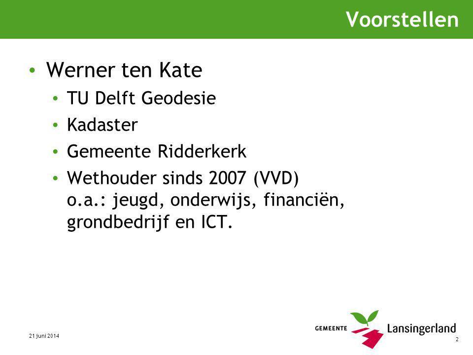 Voorstellen Werner ten Kate TU Delft Geodesie Kadaster
