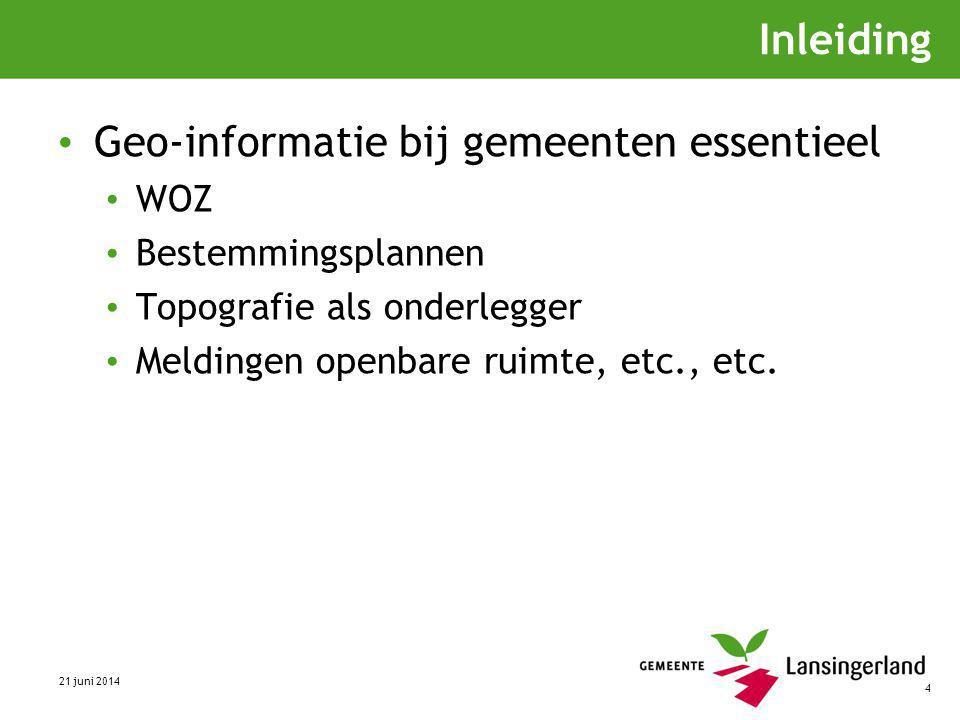 Geo-informatie bij gemeenten essentieel