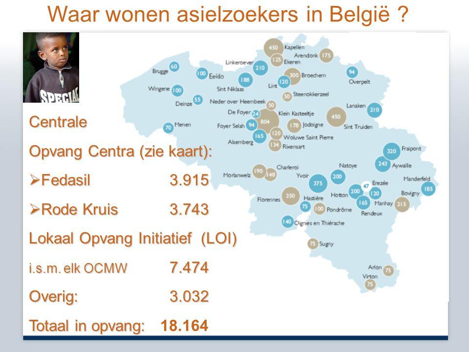 Waar wonen asielzoekers in België
