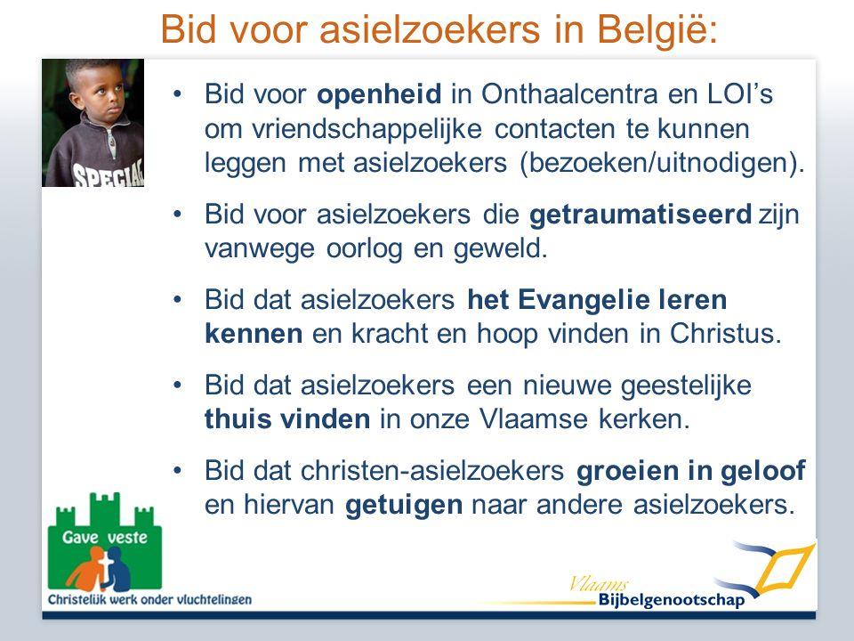 Bid voor asielzoekers in België: