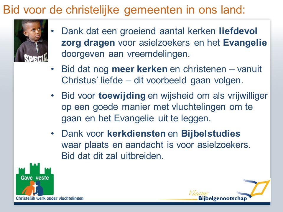 Bid voor de christelijke gemeenten in ons land: