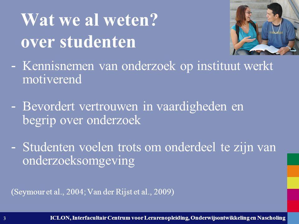 Wat we al weten over studenten