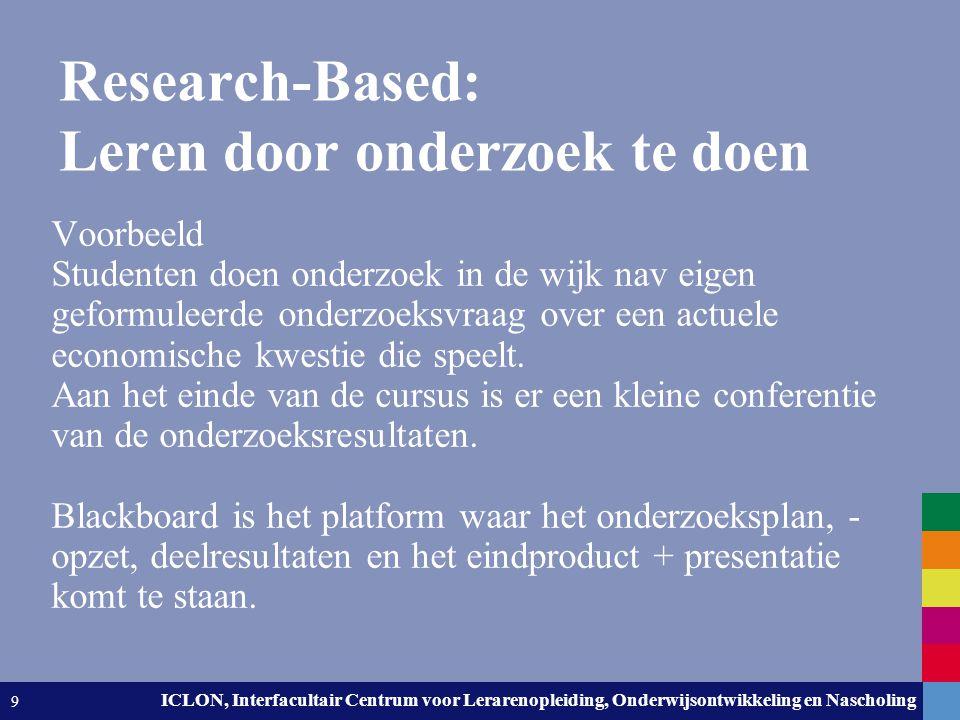 Research-Based: Leren door onderzoek te doen