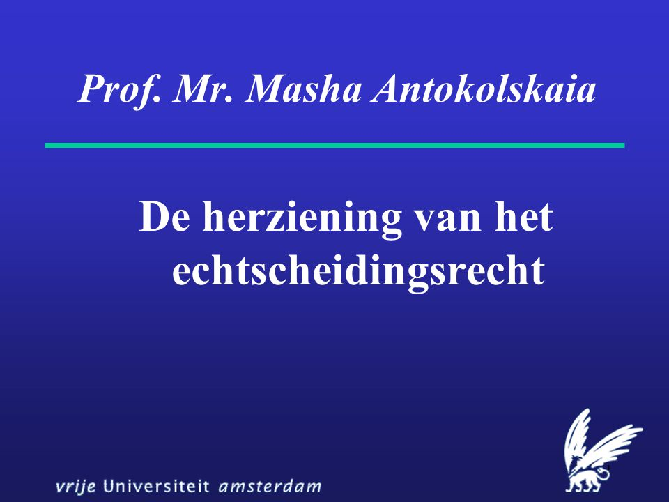 Prof. Mr. Masha Antokolskaia