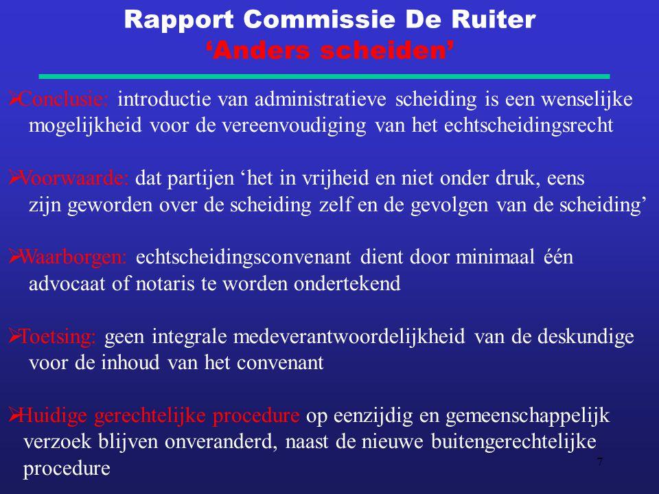 Rapport Commissie De Ruiter 'Anders scheiden'