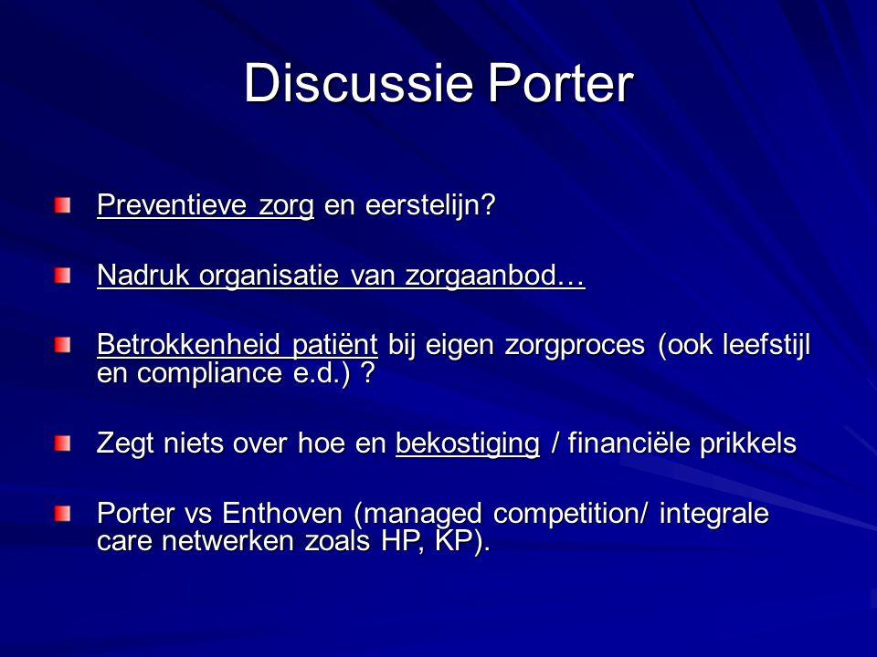 Discussie Porter Preventieve zorg en eerstelijn