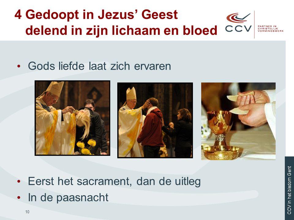 4 Gedoopt in Jezus' Geest delend in zijn lichaam en bloed