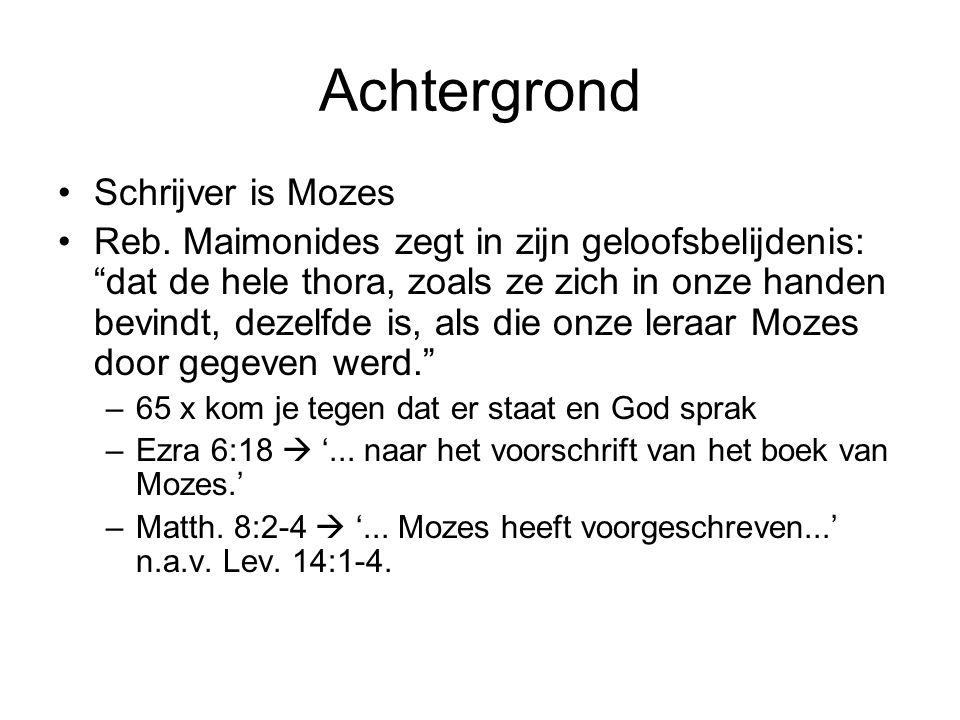 Achtergrond Schrijver is Mozes