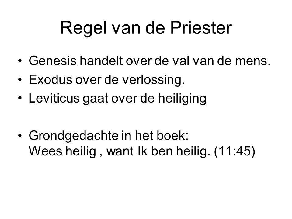 Regel van de Priester Genesis handelt over de val van de mens.