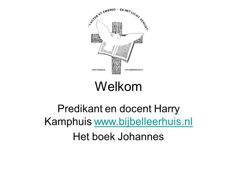 Predikant en docent Harry Kamphuis