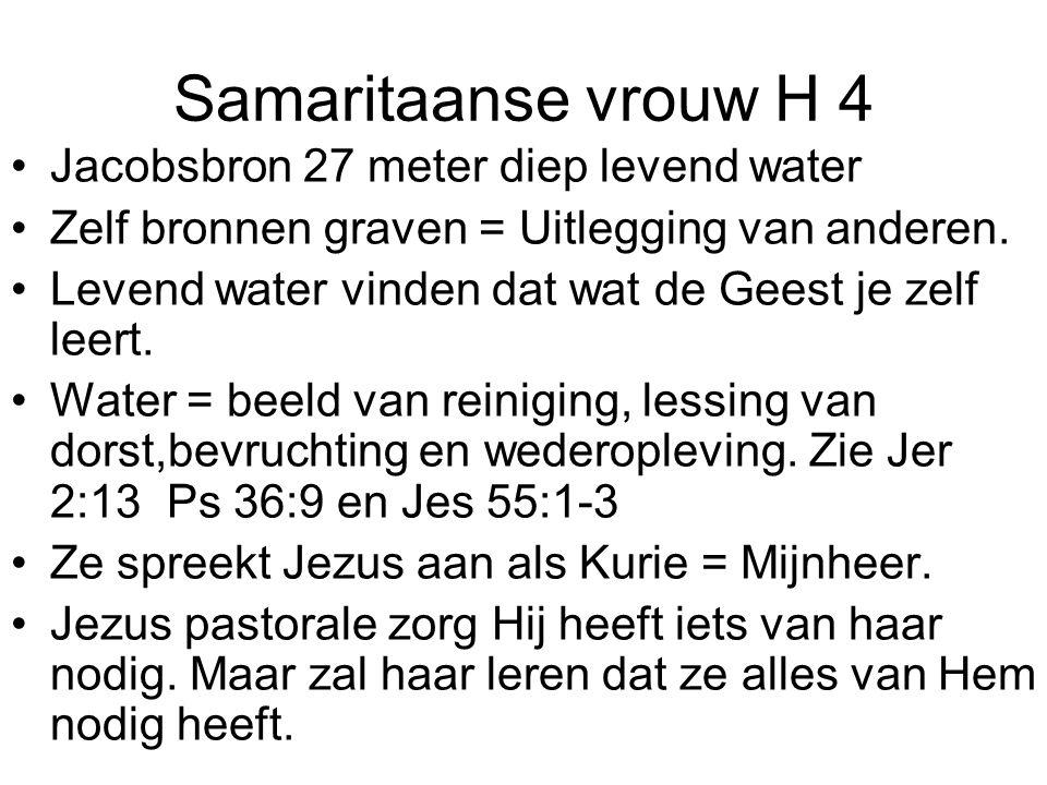 Samaritaanse vrouw H 4 Jacobsbron 27 meter diep levend water