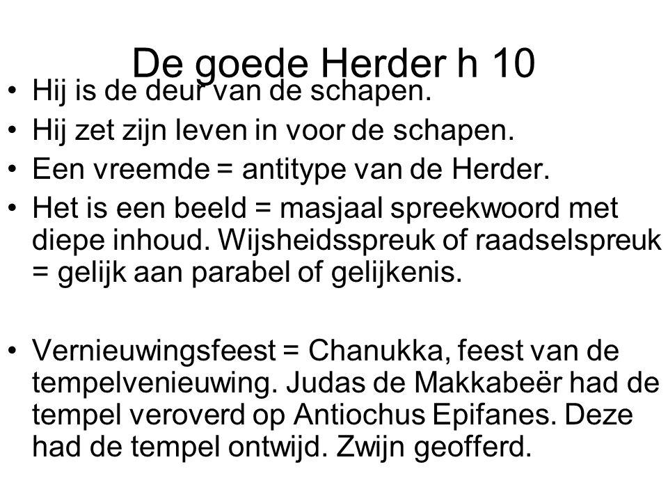 De goede Herder h 10 Hij is de deur van de schapen.