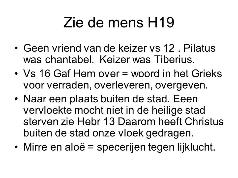 Zie de mens H19 Geen vriend van de keizer vs 12 . Pilatus was chantabel. Keizer was Tiberius.