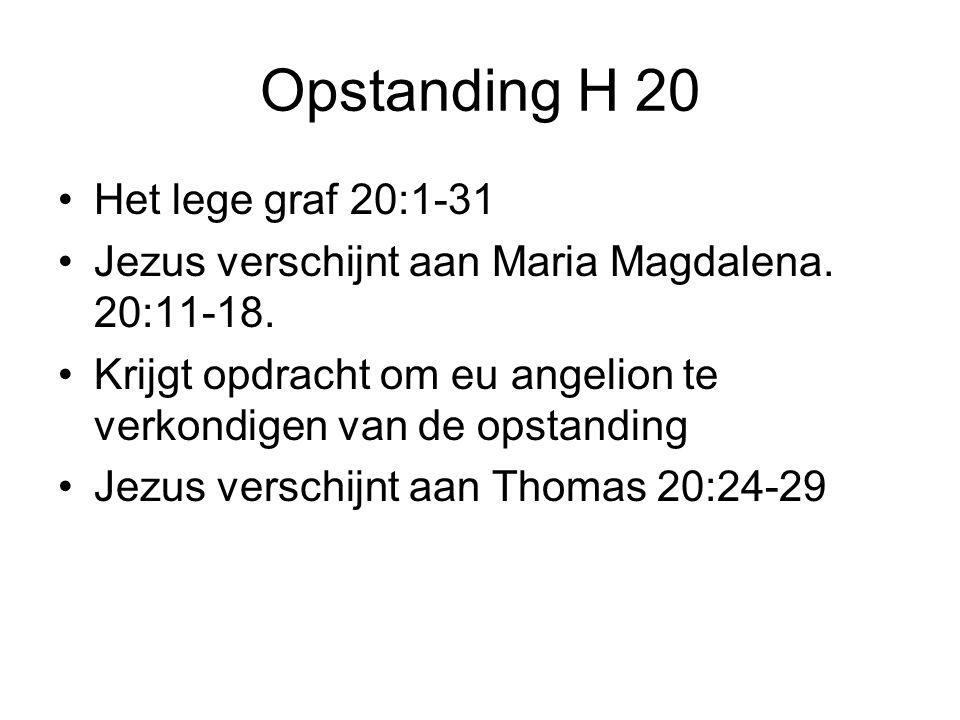 Opstanding H 20 Het lege graf 20:1-31