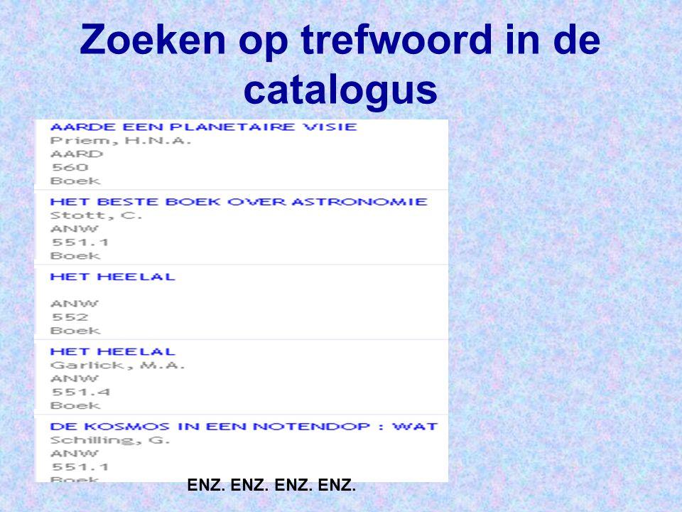 Zoeken op trefwoord in de catalogus