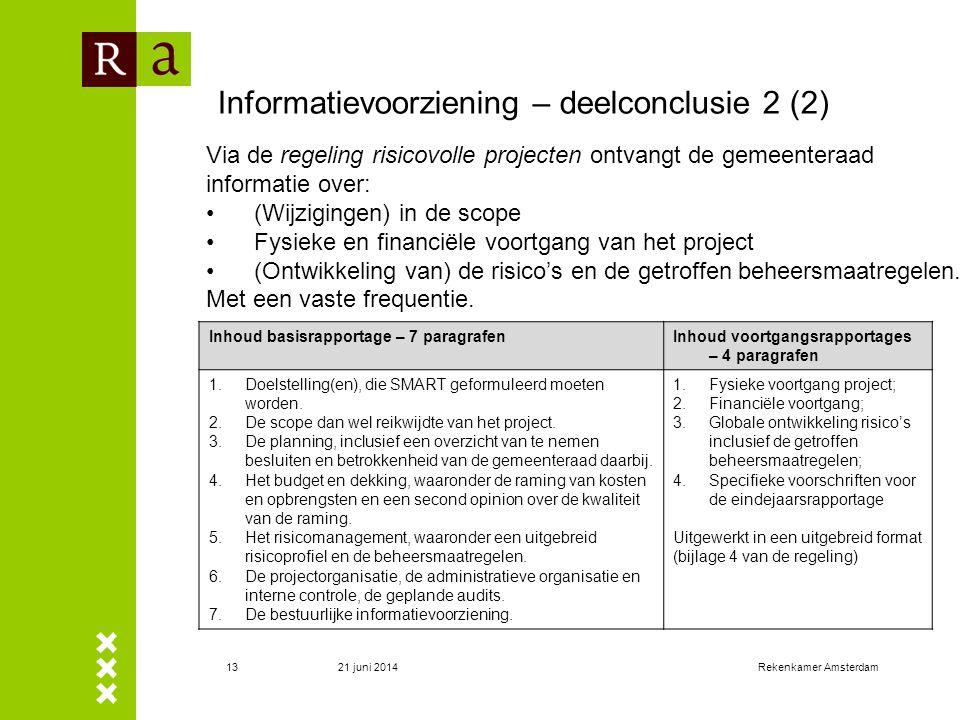 Informatievoorziening – deelconclusie 2 (2)