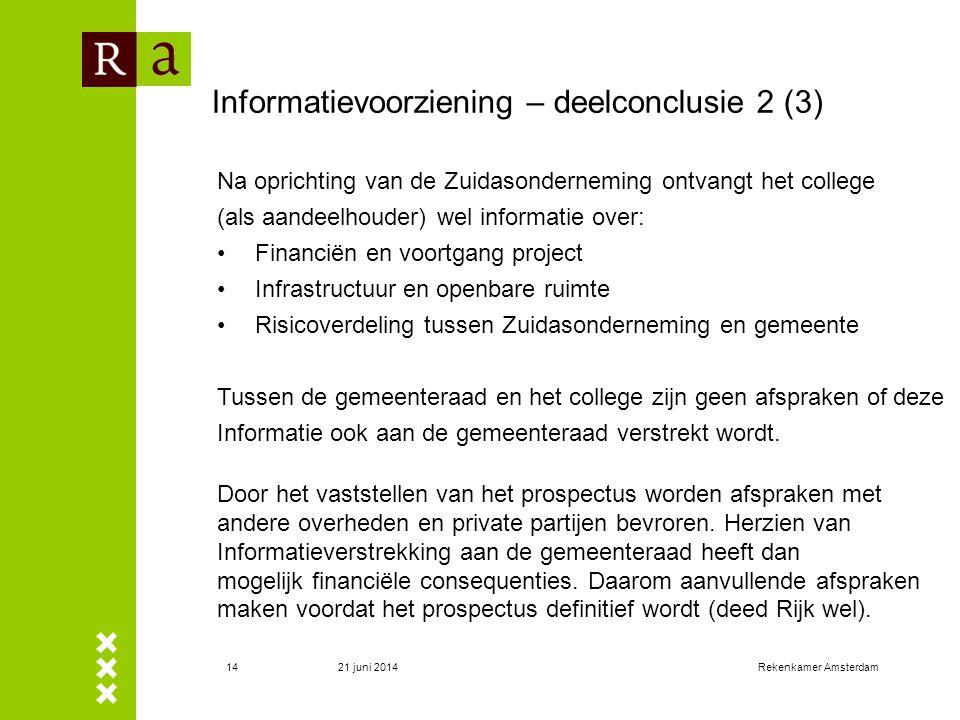 Informatievoorziening – deelconclusie 2 (3)