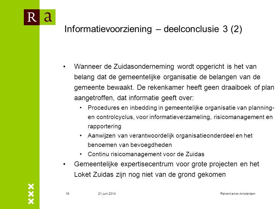 Informatievoorziening – deelconclusie 3 (2)
