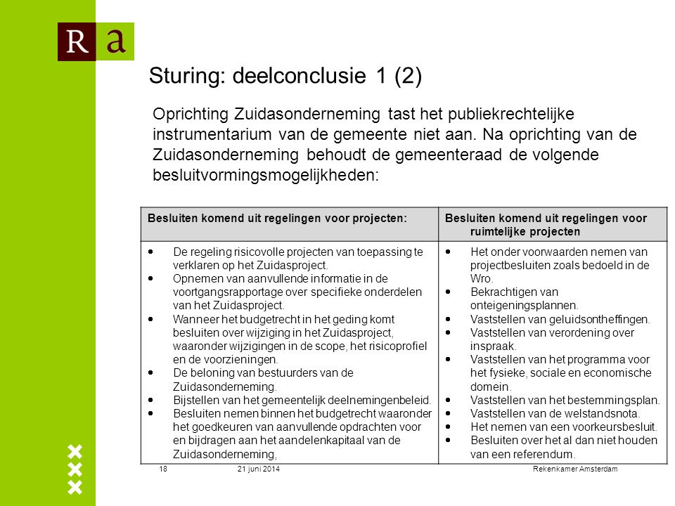 Sturing: deelconclusie 1 (2)