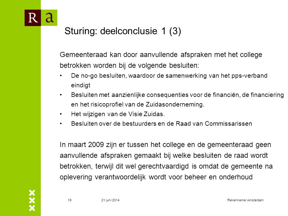 Sturing: deelconclusie 1 (3)
