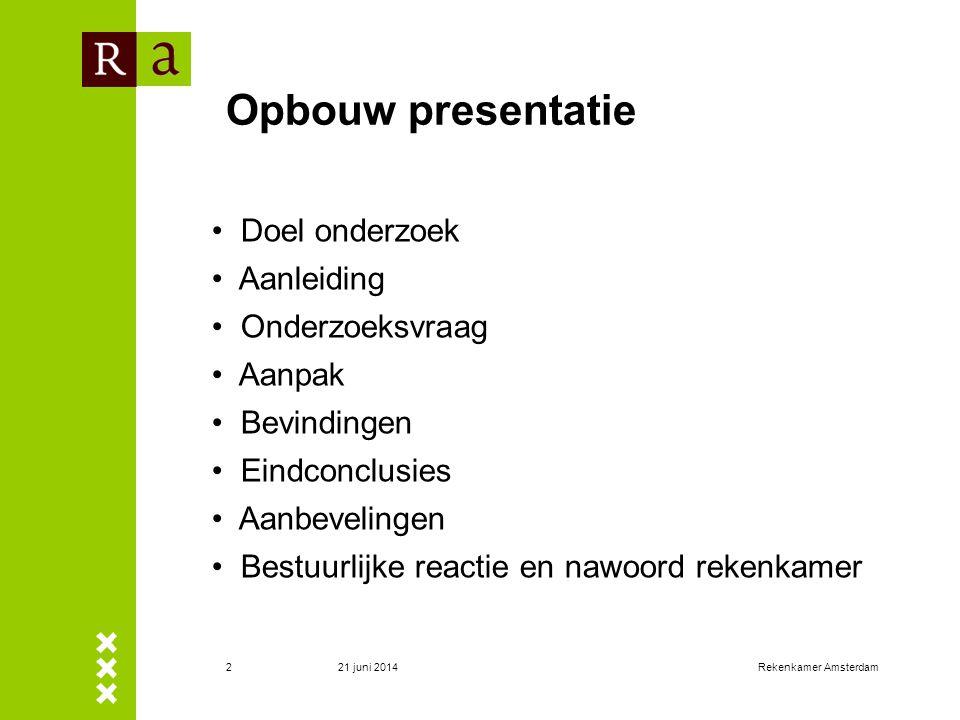 Opbouw presentatie Doel onderzoek Aanleiding Onderzoeksvraag Aanpak