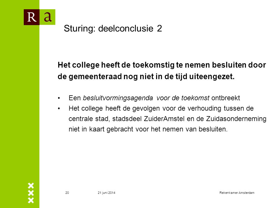 Sturing: deelconclusie 2