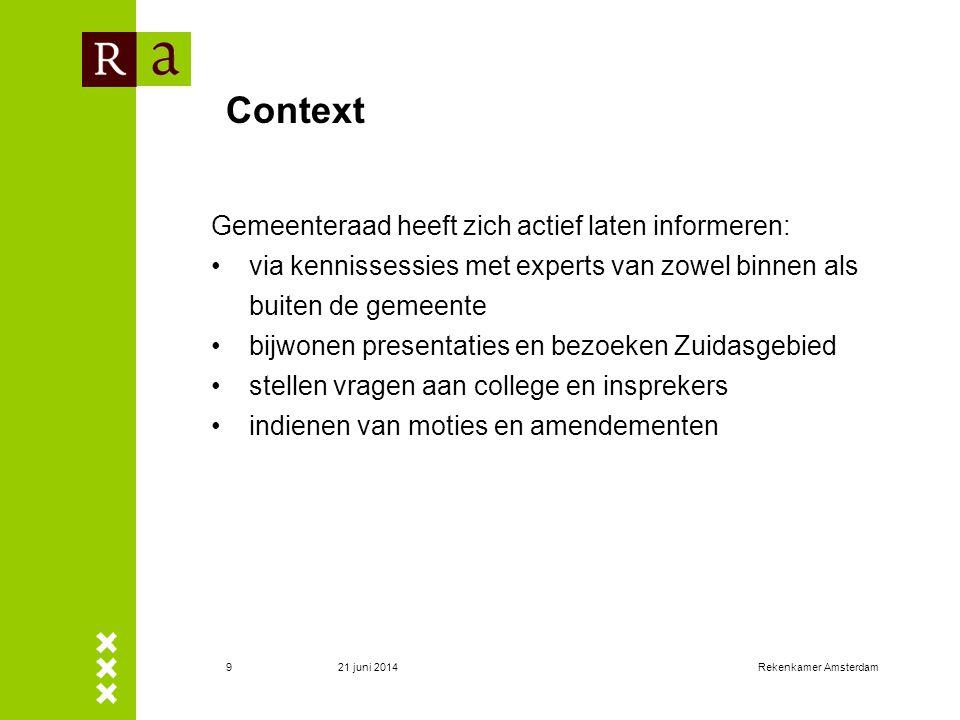 Context Gemeenteraad heeft zich actief laten informeren: