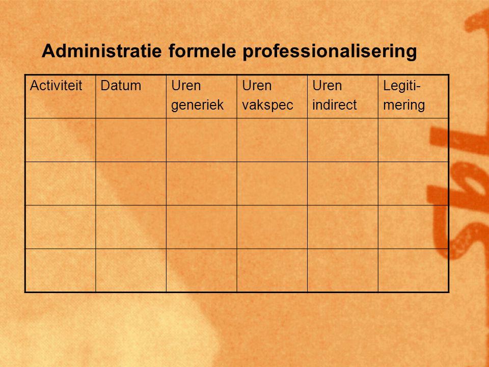 Administratie formele professionalisering