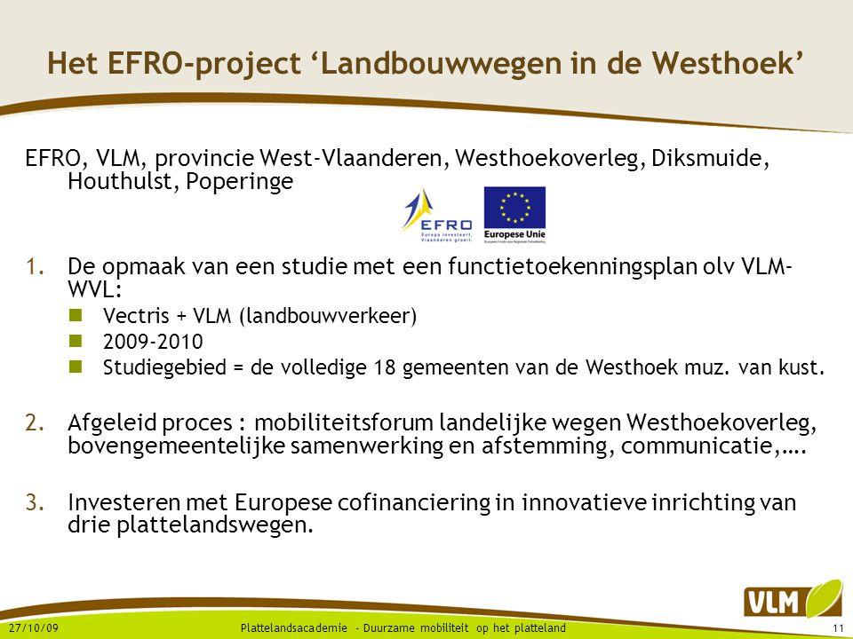 Het EFRO-project 'Landbouwwegen in de Westhoek'