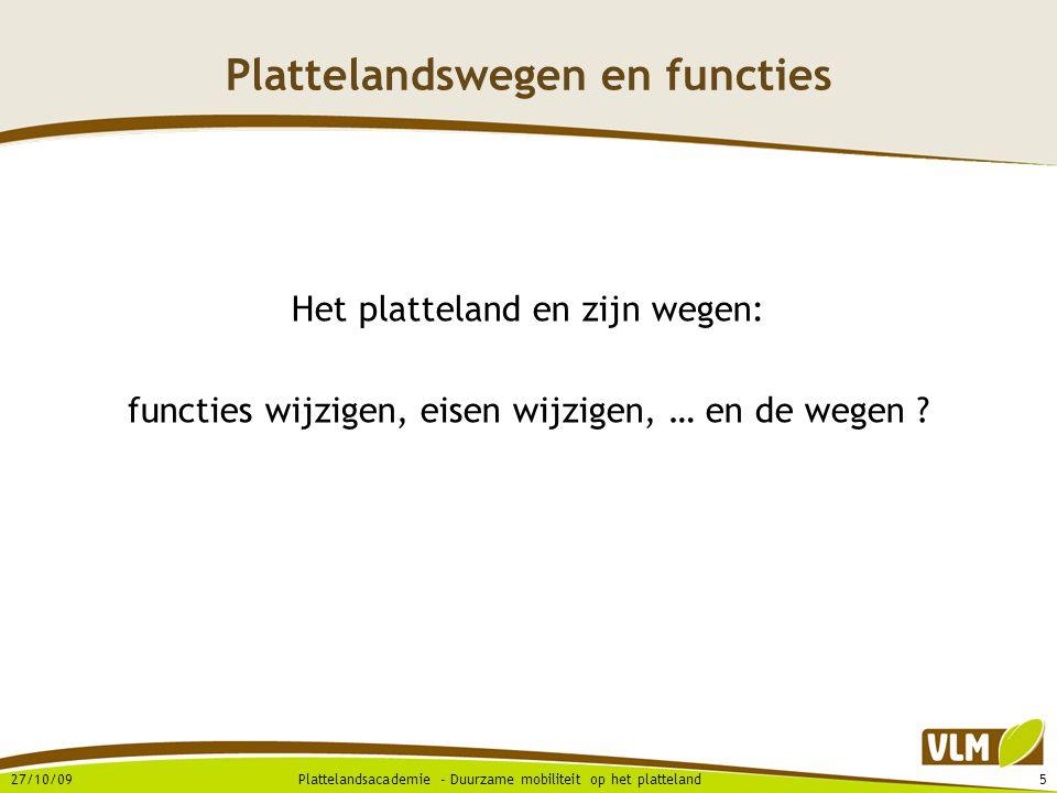 Plattelandswegen en functies