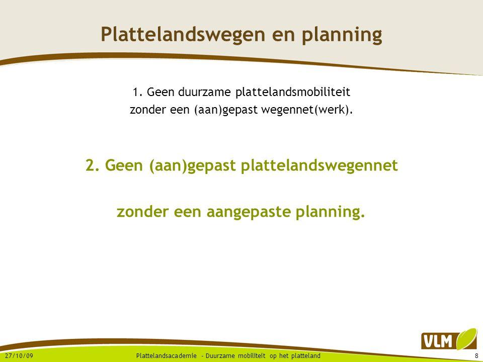 Plattelandswegen en planning