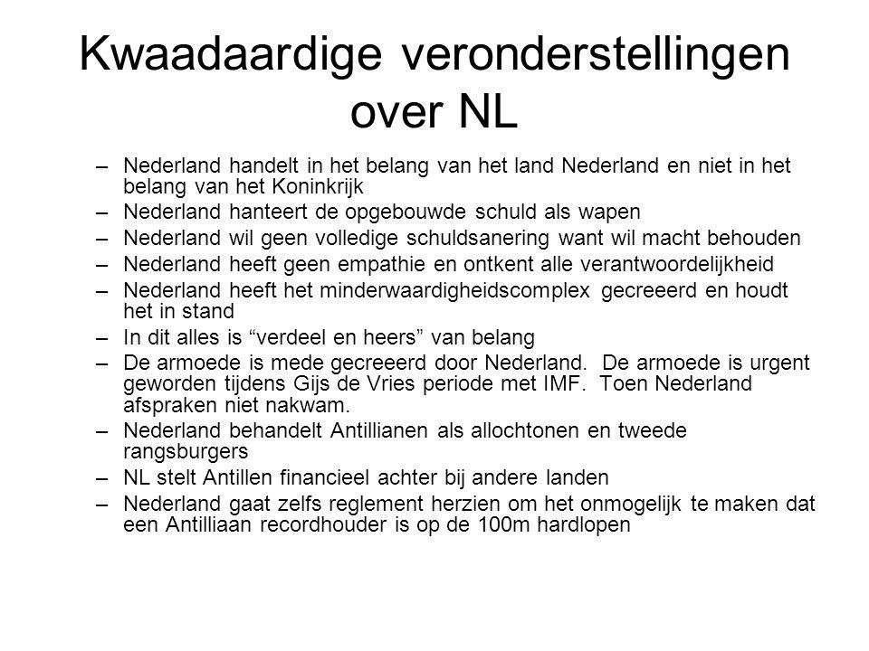 Kwaadaardige veronderstellingen over NL
